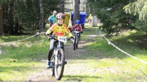 Tristan in seinem ersten Sparkassen-Cup-Rennen (U11m)