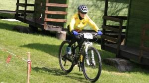 Magdalena in ihrem ersten U13 Rennen