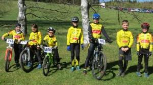 Unser Team in Nová Pec: Hannah, Franziska, Maximilian K., Magdalena K., Leonie, Maximilian W., Tristan